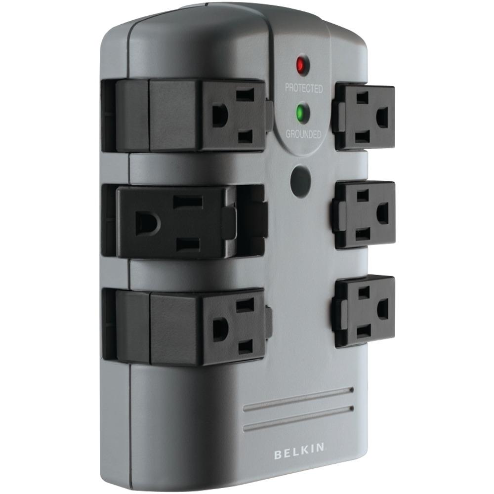 BELKIN BP106000 6-Outlet Pivot-Plug Surge Protector - Other -