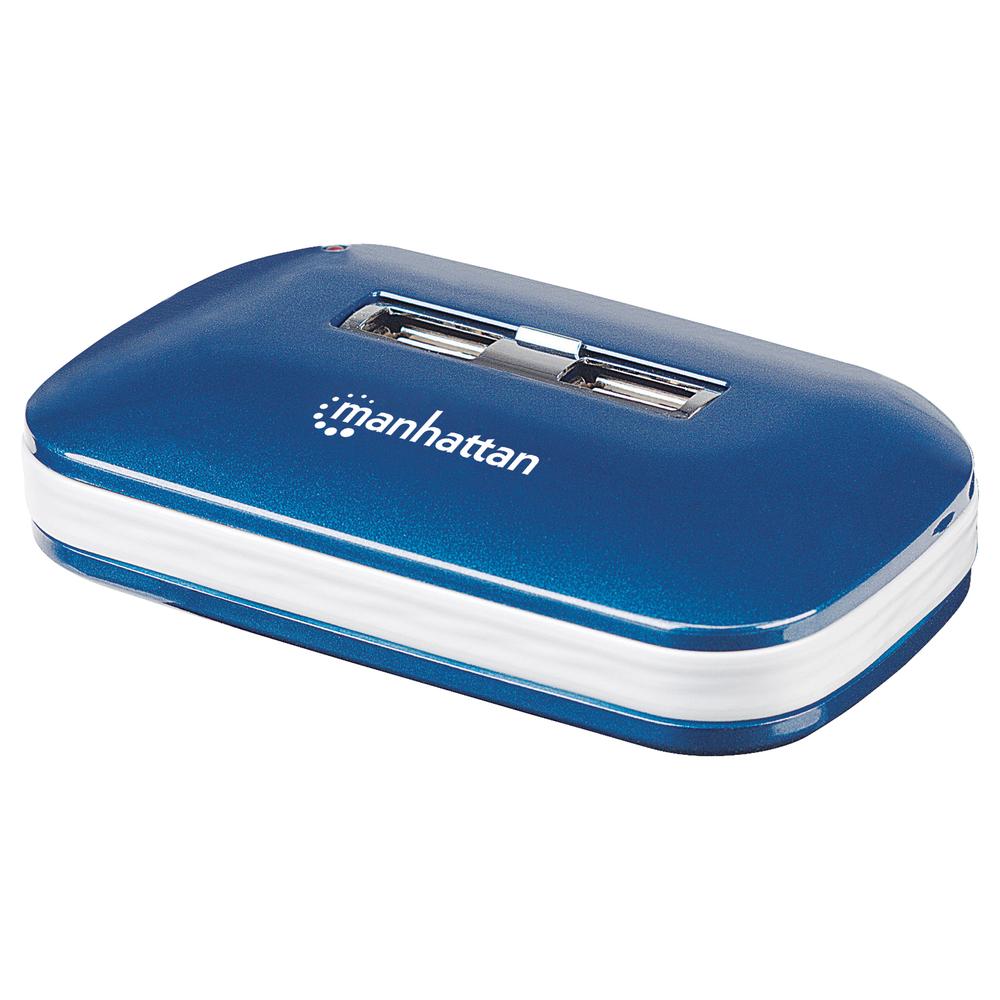 MANHATTAN 161039 7-Port Ultra USB 2.0 Hub - Usb Hubs -