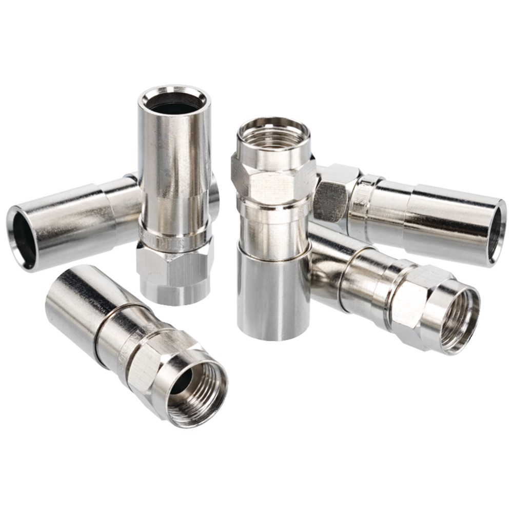 ideal 1 - RG6 F-Compression Connectors (RTQ; 100 pk), Weatherproof, all-brass design, Works on dual-, tri- & quad-shielded coaxial ? at Sears.com