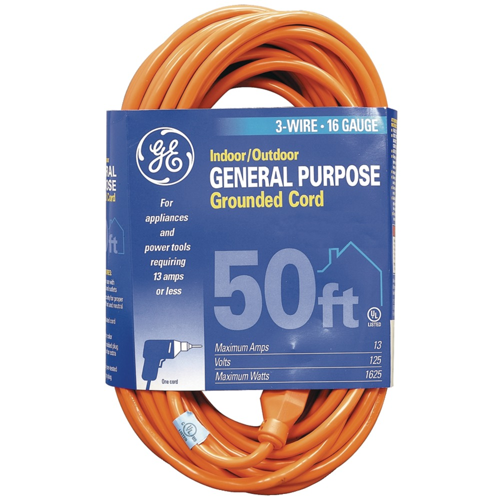 GE JASHEP51926 1-Outlet Indoor/Outdoor Extension Cord (50ft) - Other -