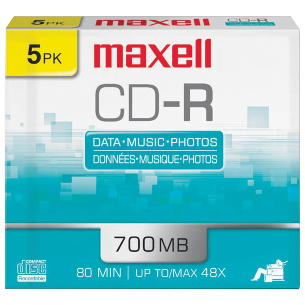 MAXELL 623205/648205 80-Minute/700MB CD-Rs (5 pk; slim cases) - Other -