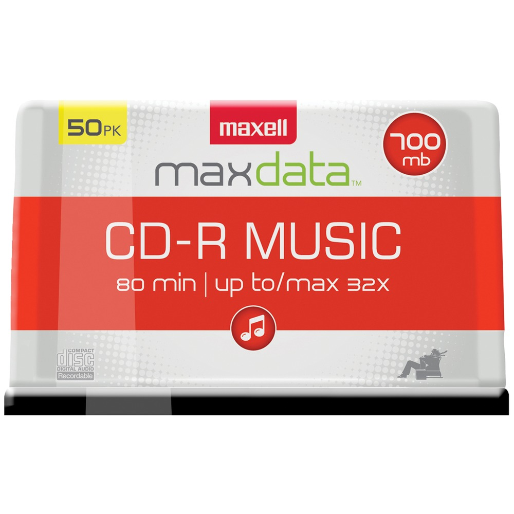 MAXELL 625156 - CDR80MU50PK Music CD-Rs (50-ct Spindle) - Other -