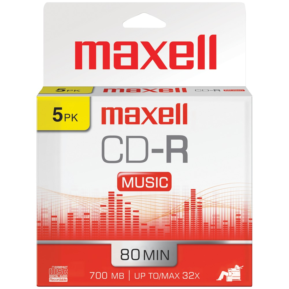 MAXELL 625132 Music CD-Rs (5 pk) - Other -