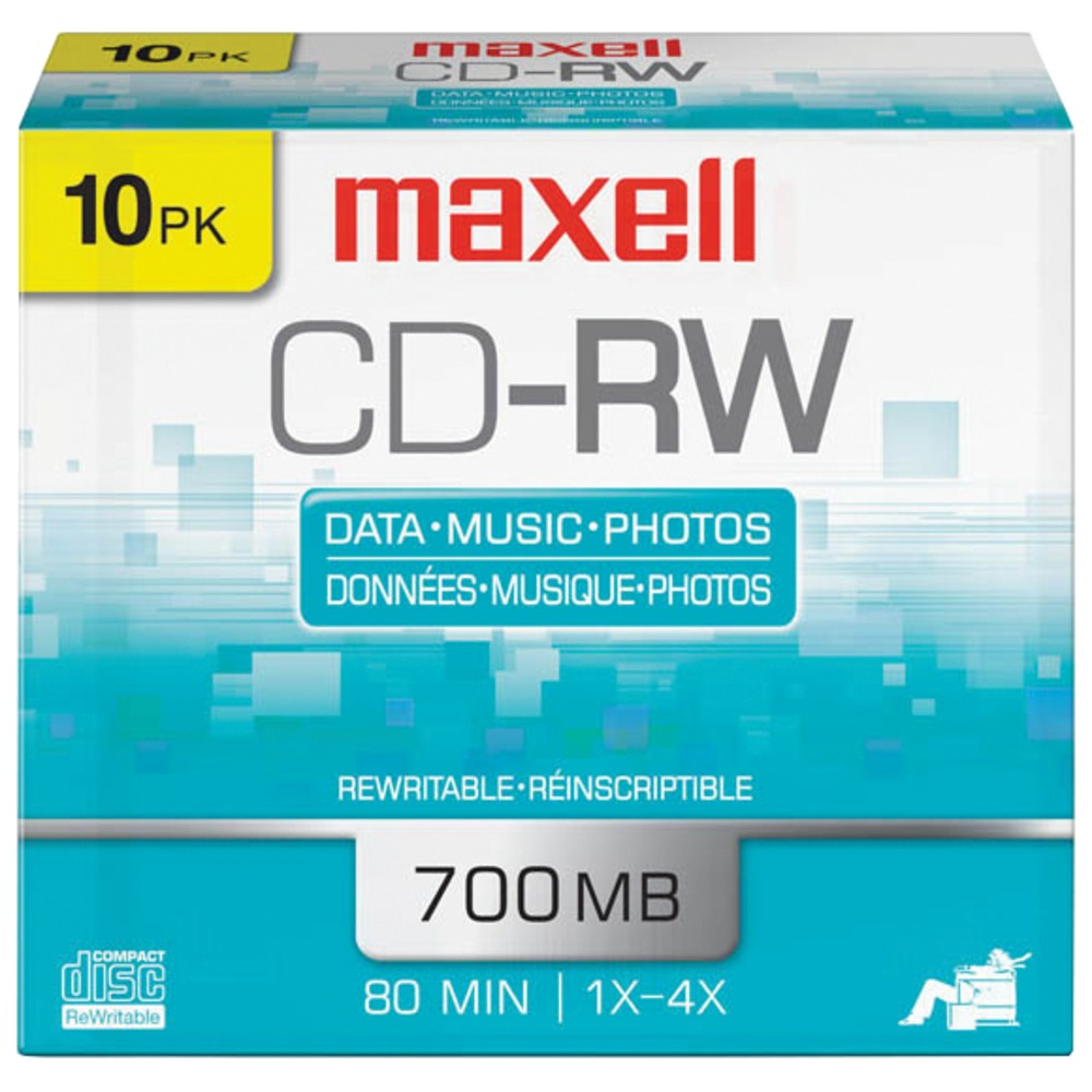 MAXELL 630011 80-Minute/700MB CD-RWs (10 pk) - Other -