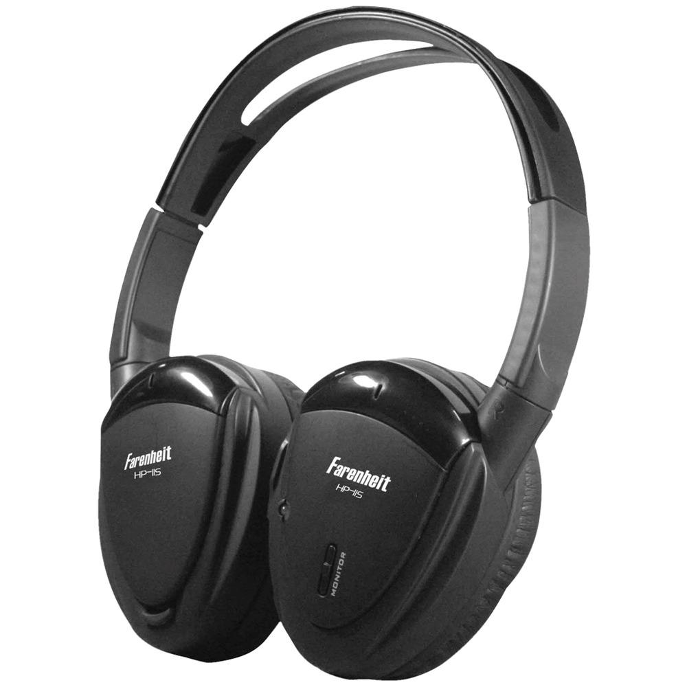 POWER ACOUSTIK HP-11S Swivel Ear Pad  Single-Channel IR Wireless Headphones - Wireless & Ir Headphones -
