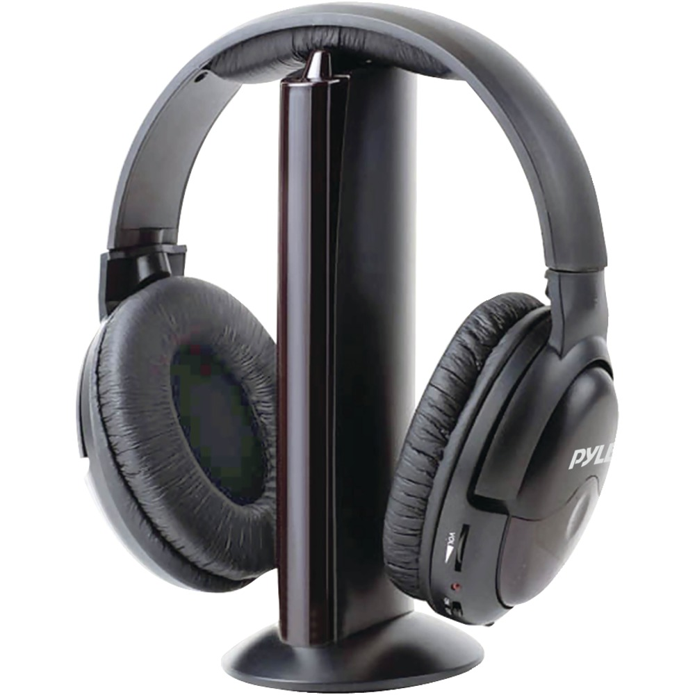 PYLE PHPW5 Professional 5-In-1 Wireless Headphone System with Microphone - Wireless Headphones -
