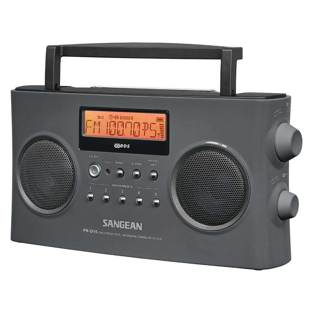 new sangean pr d15 digital portable stereo rds receiver. Black Bedroom Furniture Sets. Home Design Ideas