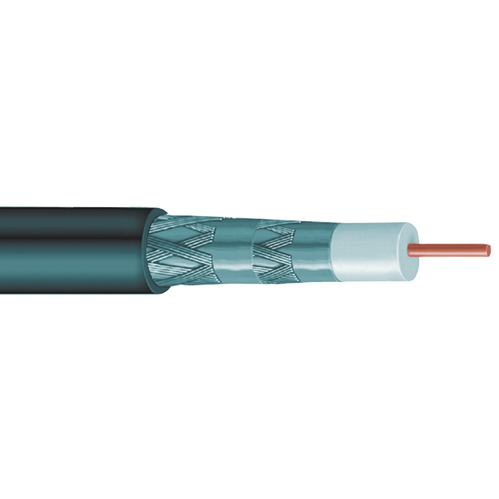 VEXTRA V62QB RG6 Quad Shield Cable  1 000 ft - Other -