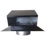 BUILDERS BEST 012633 Black Metal Roof Vent Cap (6
