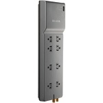 BELKIN BE108230-06 Home/Office Surge Protector (8-Outlet; 1-in/2-out telephone/modem protection & coaxial protection)