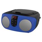 SYLVANIA SRCD243M BLUE Portable CD Boom Box with AM/FM Radio (Blue)