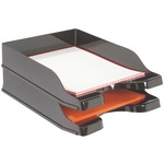 DEFLECTO 63904 DOCUTRAY MULTI-DIRECTIONAL STACKING TRAY, 2 PK