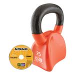 GOFIT GF-CKB25 CONTOUR KETTLEBELL & DVD (25 LBS, ORANGE)