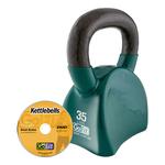 GOFIT GF-CKB35 CONTOUR KETTLEBELL & DVD (35 LBS, GREEN)