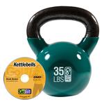 GOFIT GF-KBELL35 KETTLEBELL & DVD (35LBS  GREEN)