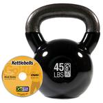 GOFIT GF-KBELL45 KETTLEBELL & DVD (45 LBS  BLACK)