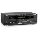 PYLE PRO PT649D Dual Cassette Deck
