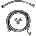 CERTIFIED APPLIANCE STMKIT2 Braided Stainless Steel Steam Dryer Installation Kit