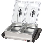 BETTY CROCKER BC-2587CY Stainless Steel Buffet Server with Warming Tray