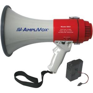 AMPLIVOX SB601R Mity-Meg 15-Watt Megaphone (Bundled with rechargeable battery)