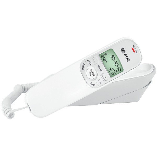 ATT TR1909W CORDED TRIMLINE PHONE WITH CALLER ID (WHITE) at Sears.com