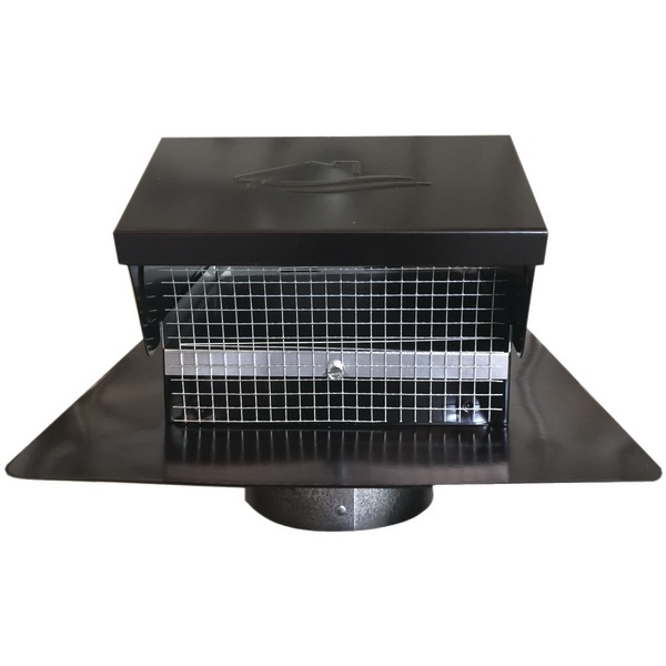 new builders best 012635 black metal roof vent cap 4