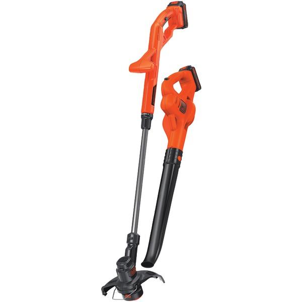 """BLACK+DECKER(TM) LCC222 20-Volt MAX* Lithium 10"""" String Trimmer/Edger, Hard Surface Sweeper & 2-Battery Combo Kit"""