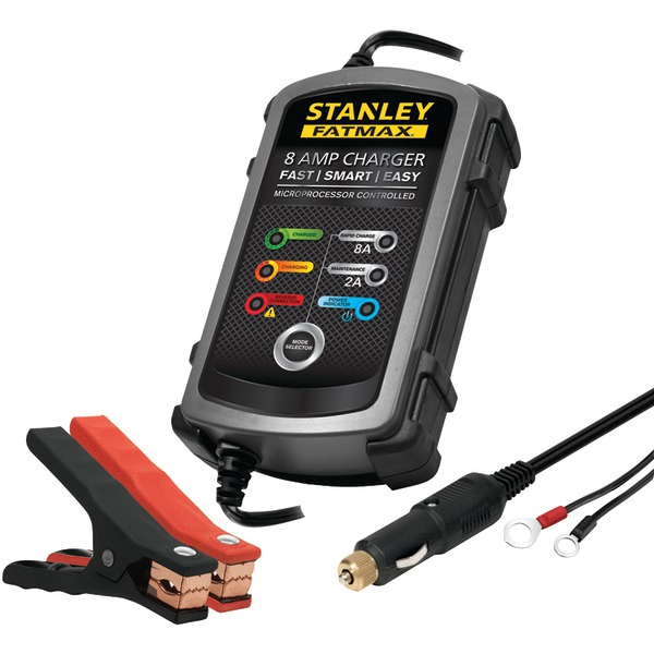STANLEY(R) BC8S 8-Amp FatMax(R) Battery Charger/Maintainer