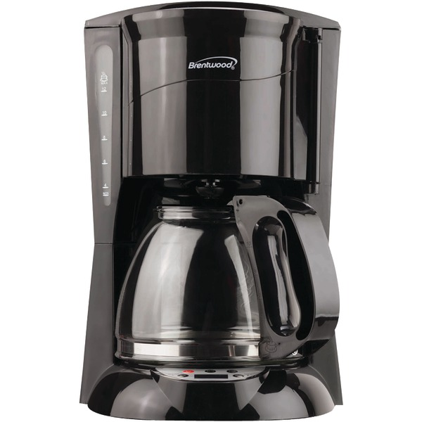 BRENTWOOD TS-218B 12-Cup Coffee Maker (Black; Digital)