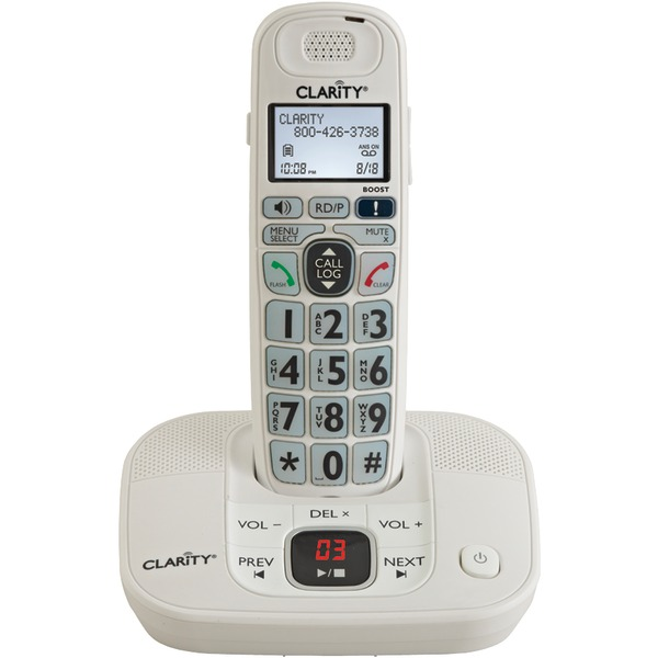 Clarity(R) 53714 DECT 6.0 Amplified Cordless Phone with Digital Answering System