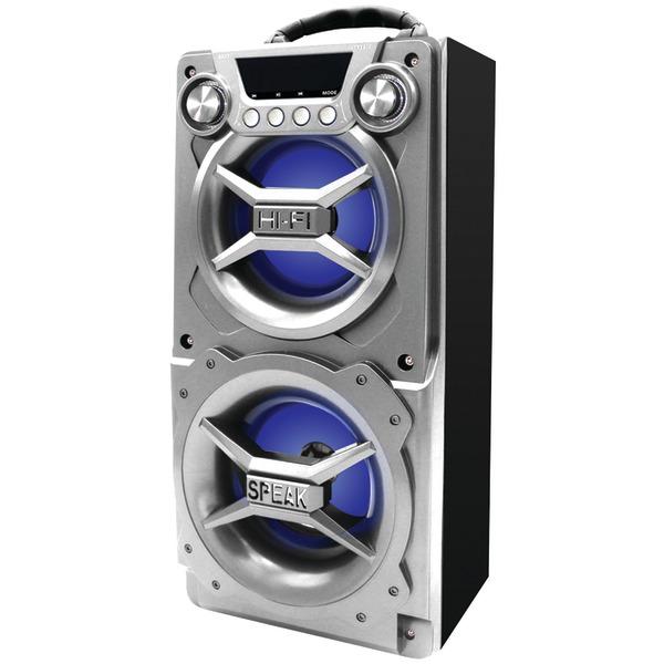SYLVANIA(R) SP328-SILVER Bluetooth(R) Speaker with Speakerphone (Silver)