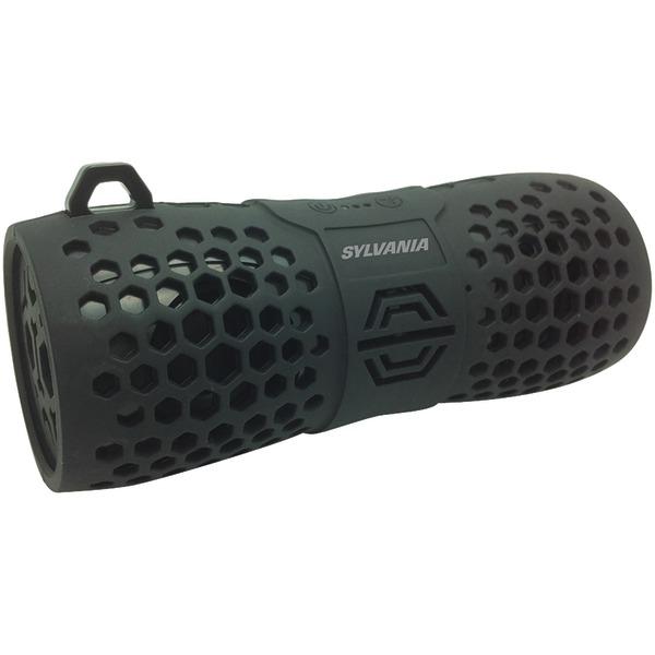 SYLVANIA(R) SP332 -BLACK Water-Resistant Portable Bluetooth(R) Speaker (Black)