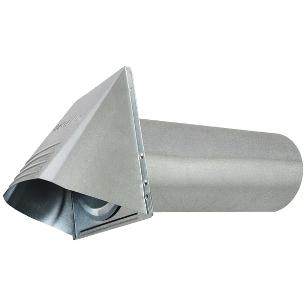 "Deflecto(R) GVH4 4"" Wide-Mouth Galvanized Vent Hood"