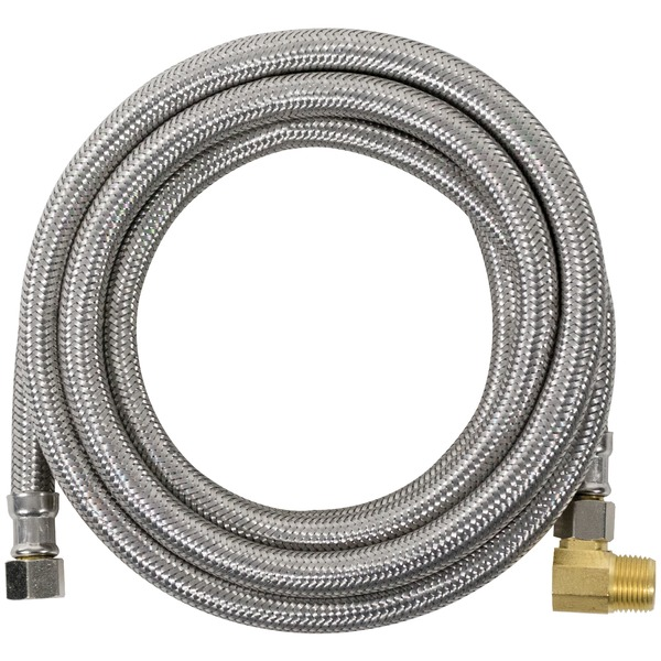 Certified Appliance Accessories(R) DW120SSBL Braided Stainless Steel Dishwasher Connector with Elbow, 10ft