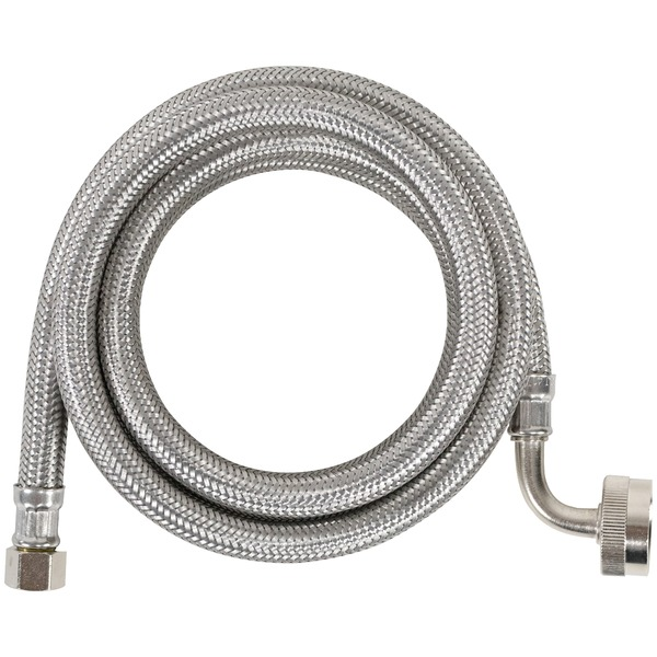 Certified Appliance Accessories(R) DW60SSL Braided Stainless Steel Dishwasher Connector with Elbow, 5ft