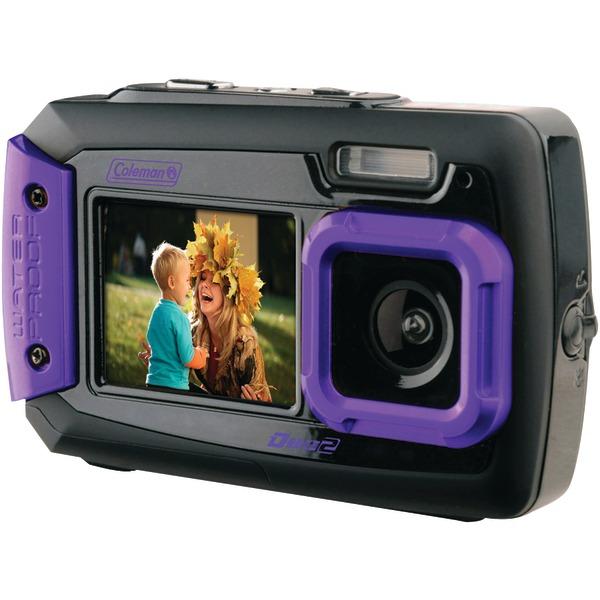 COLEMAN 2V9WP-P 20.0 Megapixel Duo2 Dual-Screen Waterproof Digital Camera (Purple)