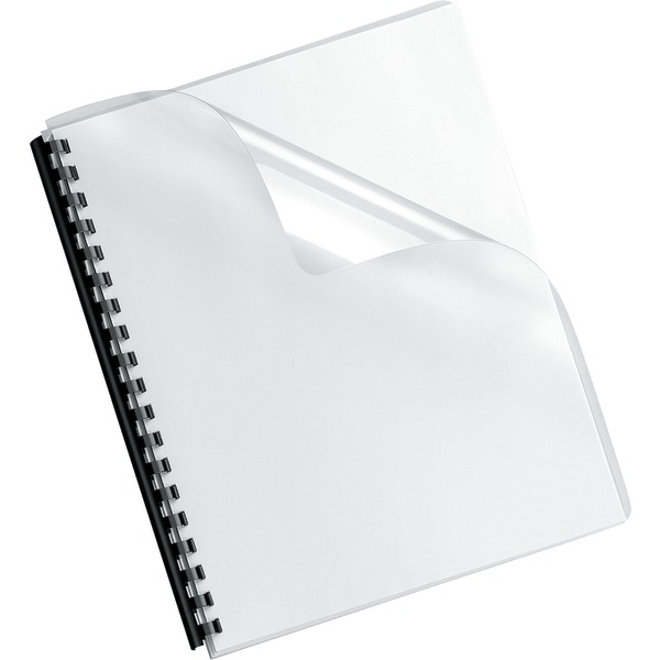 Fellowes(R) 52311 Crystals Transparent PVC Binding Cover, Oversized, 100pk
