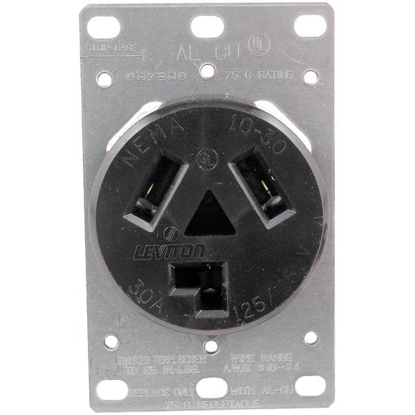 No Logo 5207 Single-Flush Dryer Receptacle (3 wire)