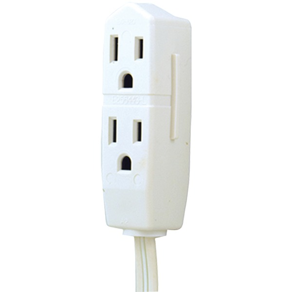 GE  JASHEP50669 3-Outlet Grounded Office Cord (White)