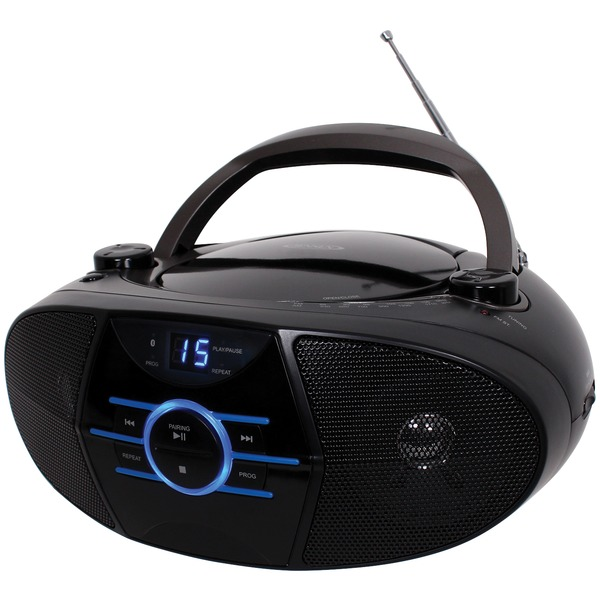 JENSEN(R) CD-560 Portable Stereo CD Player with AM/FM Stereo Radio & Bluetooth(R)
