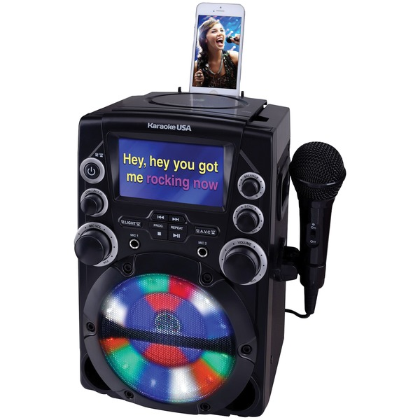"Karaoke USA(TM) GQ740 CD+G Karaoke System with 4.3"" Color TFT Screen"