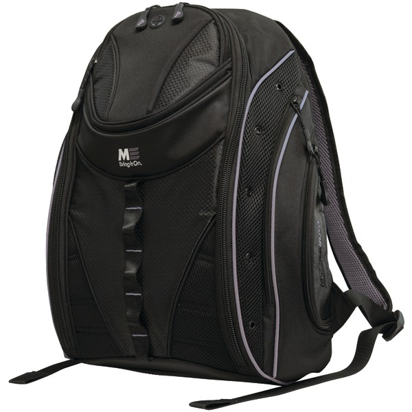 """Mobile Edge(R) MEBPE22 16"""" PC/17"""" MacBook(R) Express 2.0 Backpack, Black/Silver"""
