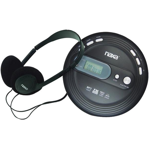 Naxa npc330 slim personal mp3 cd player with fm radio - Mobile porta cd ...
