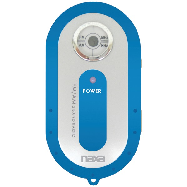 Naxa(R) NR720BL AM/FM Mini Pocket Radio (Blue)