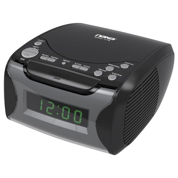 naxa nrc175 digital alarm clock radio cd player. Black Bedroom Furniture Sets. Home Design Ideas
