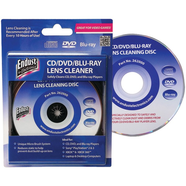 ENDUST FOR ELECTRONICS 262000 CD/DVD/BLU-RAYDISC(TM)/GAME CONSOLE LENS CLEANER at Sears.com
