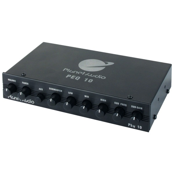 Planet Audio(R) PEQ10 Half-DIN 4-Band Graphic Equalizer
