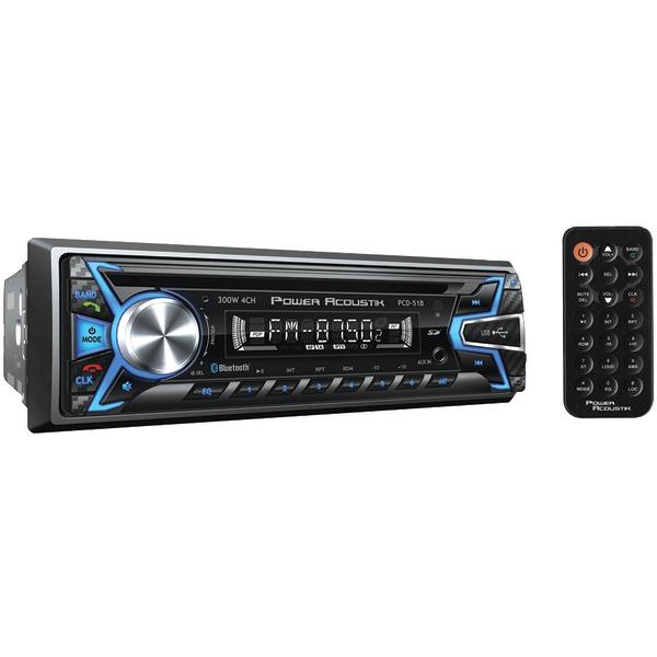 Power Acoustik(R) PCD-51B Single-DIN In-Dash CD/MP3 AM/FM Receiver (With Bluetooth(R))