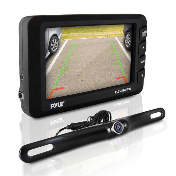 """Pyle(R) PLCM4375WIR 4.3"""" LCD Monitor & Wireless Backup Camera with Parking/Reverse Assist System"""