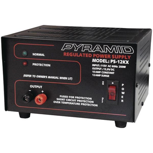 Pyramid PS12KX Power Supply (Input: 115V AC, 60 Hz, 250W; 10 amp constant/12 amp surge at Sears.com